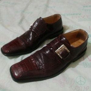 David Eden shoe Italian made 9.5 men bordeaux